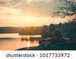 female tourists in beautiful... | Shutterstock . vector #1017733972