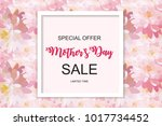 happy mother s day cute sale... | Shutterstock . vector #1017734452