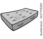 dirty mattress illustration   a ...   Shutterstock .eps vector #1017735205