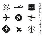 plane icon set. airplane... | Shutterstock .eps vector #1017738868