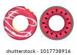 swim rings icons.rubber rings... | Shutterstock .eps vector #1017738916
