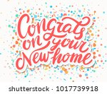 congrats on your new home   | Shutterstock .eps vector #1017739918