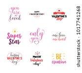 relationship bond lettering set   Shutterstock .eps vector #1017741268