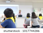 asia elementary students in... | Shutterstock . vector #1017744286