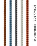 leather seamless braided plait... | Shutterstock .eps vector #101774605