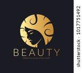beauty logo. an elegant logo... | Shutterstock .eps vector #1017751492
