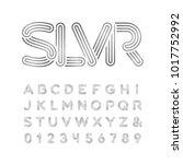 silver font. vector alphabet...   Shutterstock .eps vector #1017752992