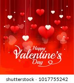 illustration of valentines day... | Shutterstock .eps vector #1017755242