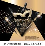 beautiful masquerade banner...   Shutterstock .eps vector #1017757165