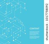 abstract line pattern hexagon.... | Shutterstock .eps vector #1017758092
