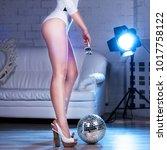 female long legs  woman legs in ...   Shutterstock . vector #1017758122