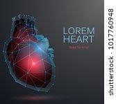 polygonal heart medicine... | Shutterstock .eps vector #1017760948