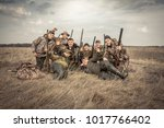 Men Hunters Group Team Portrai...