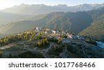 rosa khutor plateau  aerial... | Shutterstock . vector #1017768466