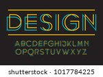 geometric technology font...   Shutterstock .eps vector #1017784225