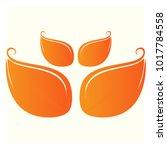 leaf vector logo design template | Shutterstock .eps vector #1017784558
