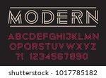 geometric technology font... | Shutterstock .eps vector #1017785182