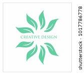 leaf vector logo design template | Shutterstock .eps vector #1017786778