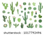 set of hand drawn different... | Shutterstock .eps vector #1017792496