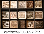 wood in english words wood | Shutterstock . vector #1017792715