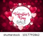 valentine s day heart love and... | Shutterstock . vector #1017792862