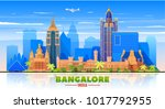 bangalore  india   skyline with ... | Shutterstock .eps vector #1017792955