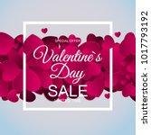 valentines day sale  discont... | Shutterstock . vector #1017793192