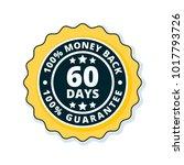 60 days money back illustration   Shutterstock .eps vector #1017793726
