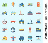 icons about transportation with ... | Shutterstock .eps vector #1017794386