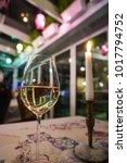 wine glass on table   Shutterstock . vector #1017794752