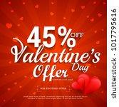 illustration of valentines day... | Shutterstock .eps vector #1017795616