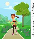 woman character run. vector...   Shutterstock .eps vector #1017798526