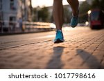 fitness woman jogging and... | Shutterstock . vector #1017798616