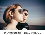 portrait of a loving couple of... | Shutterstock . vector #1017798772