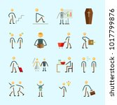 icons about human with... | Shutterstock .eps vector #1017799876