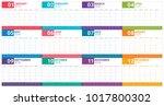year 2018 planner calendar...   Shutterstock .eps vector #1017800302