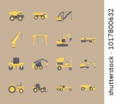 icons construction machinery... | Shutterstock .eps vector #1017800632