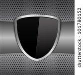 black shield on metal... | Shutterstock .eps vector #101780152