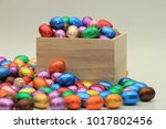 foil wrapped chocolate easter... | Shutterstock . vector #1017802456