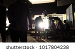 behind the scenes of video... | Shutterstock . vector #1017804238