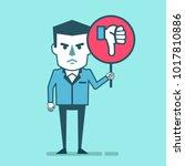 dissatisfied businessman holds... | Shutterstock .eps vector #1017810886