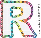 letter r | Shutterstock .eps vector #101781112