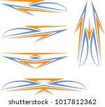vehicle graphics  stripe  ... | Shutterstock .eps vector #1017812362