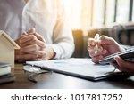 real estate concept  agent... | Shutterstock . vector #1017817252