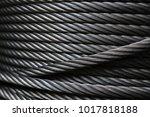 closeup of heavy duty new steel ... | Shutterstock . vector #1017818188