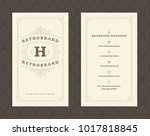 luxury business card and... | Shutterstock .eps vector #1017818845
