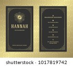 luxury business card and golden ... | Shutterstock .eps vector #1017819742
