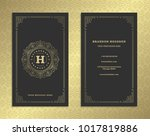 luxury business card and golden ... | Shutterstock .eps vector #1017819886