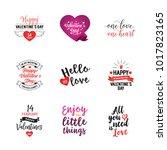 truly love lettering set | Shutterstock .eps vector #1017823165