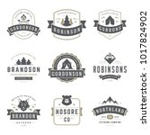 camping logos templates vector... | Shutterstock .eps vector #1017824902